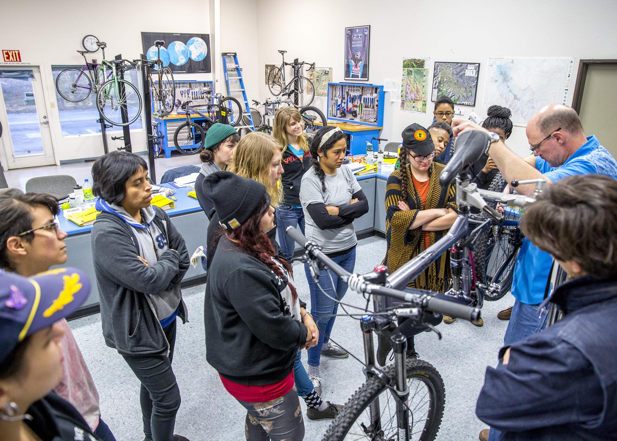 In 2014, QBP creates a Women's Bike Mechanic Scholarship, which covers lodging and tuition at UBI's two-week Professional Shop Repair and Operations class. Upon completion of the course, recipients also receive a stipend to help defray personal expenses.