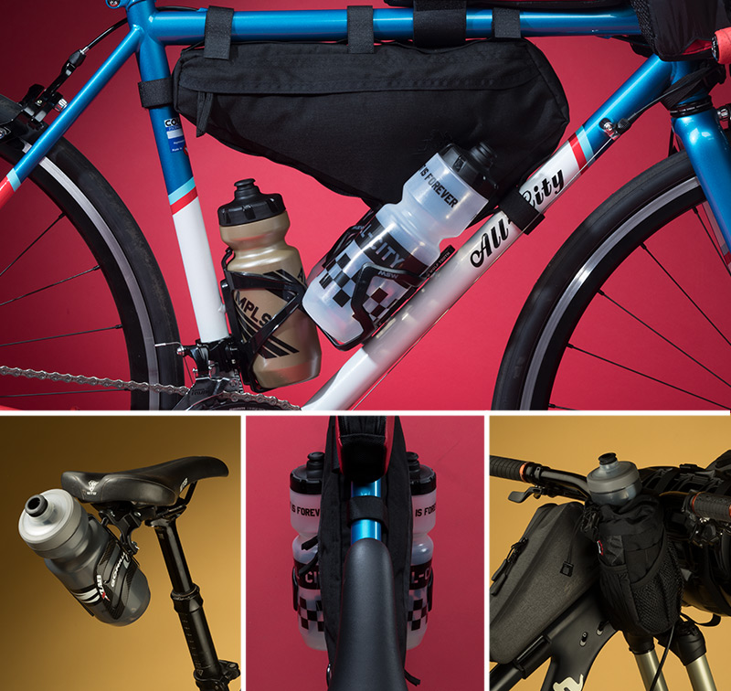 Frame Bike Bag Top Tube Cycling Under Seat Bicycle Triangle Water Bottle Holder