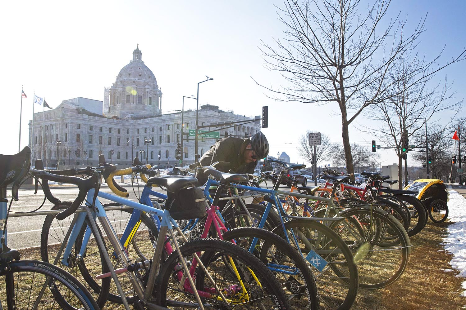 Each year, QBP employees spend time lobbying their legislators at the Minnesota Bike Summit. These efforts shine a light on legislation that involves better bike infrastructure, improved bike laws, and safe routes to schools, just to name a few.
