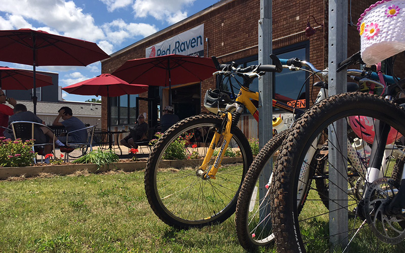 The Red Raven in Crosby will take care of your bike maintenance needs and fuel you up the ride.