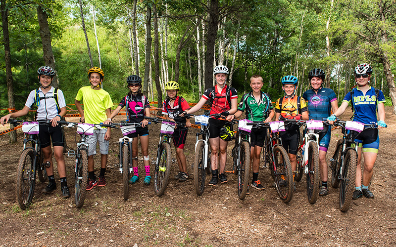 Each year, student athletes from around the state gather at Cuyuna for a weekend of training on some of the best trails around. <i> Photo by Todd Bauer </i>