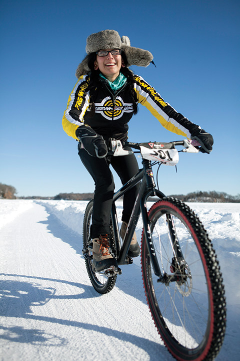 Natalia racing The Lake Minnetonka Ice Race, 2014 Photo courtesy of Ben Hovland