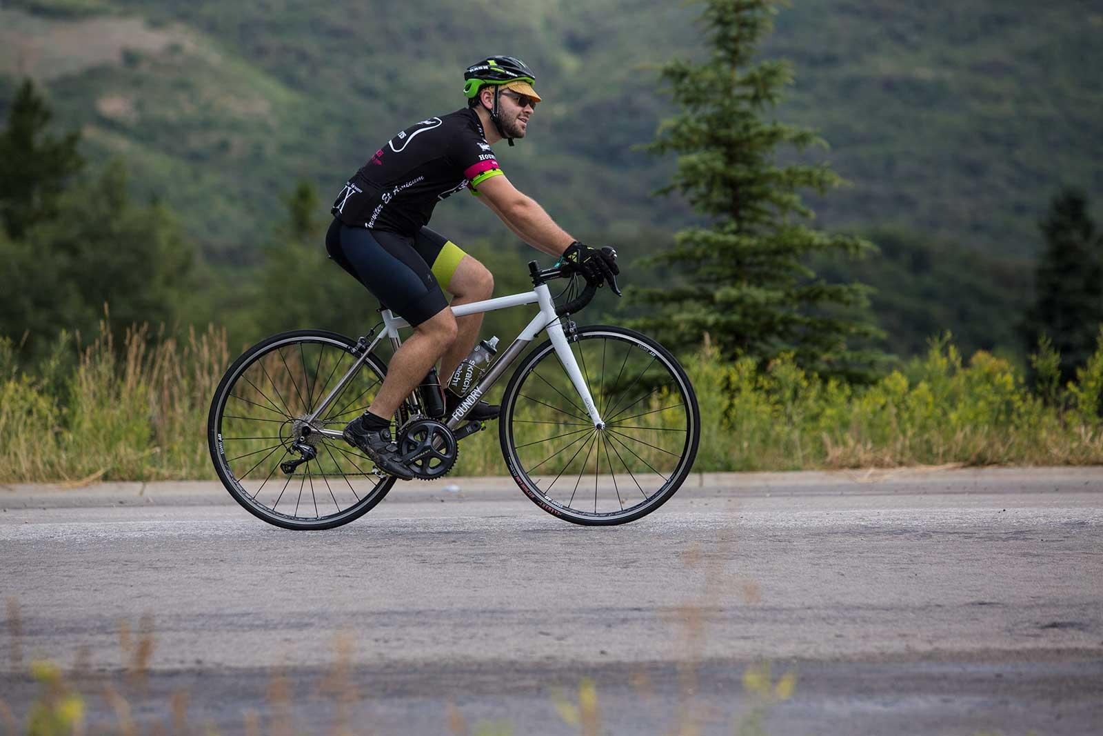Person riding a Foundry bike at SaddleDrive 2015