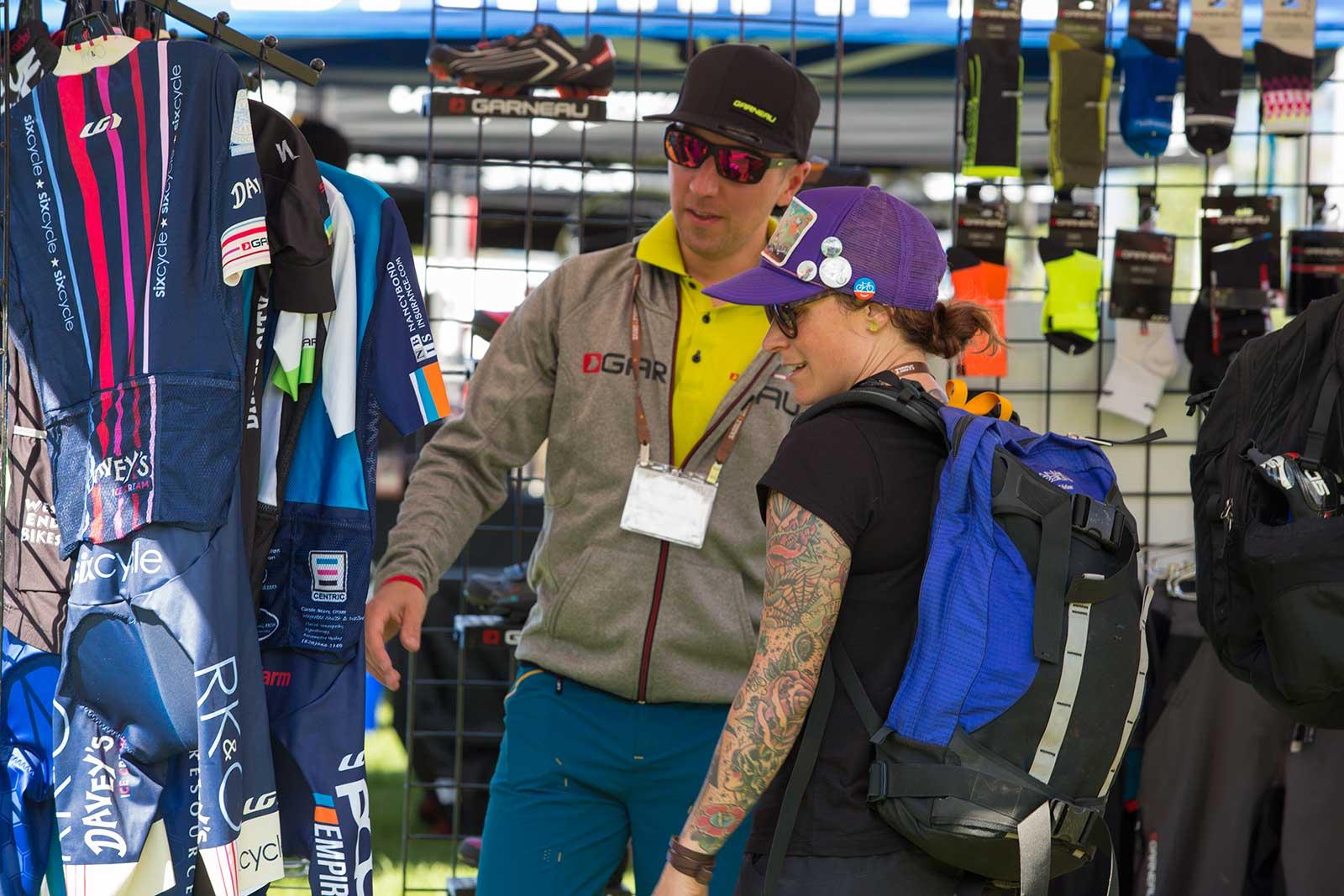 Garneau at the SaddleDrive 2015 expo