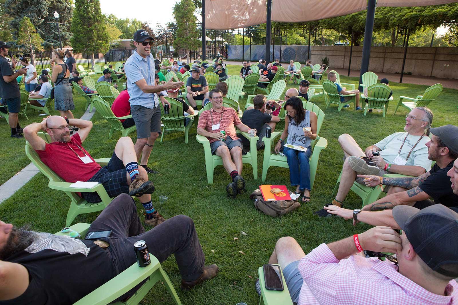 People socializing at SaddleDrive 2015